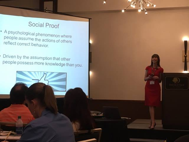 Katie Wagner, Discussing social media